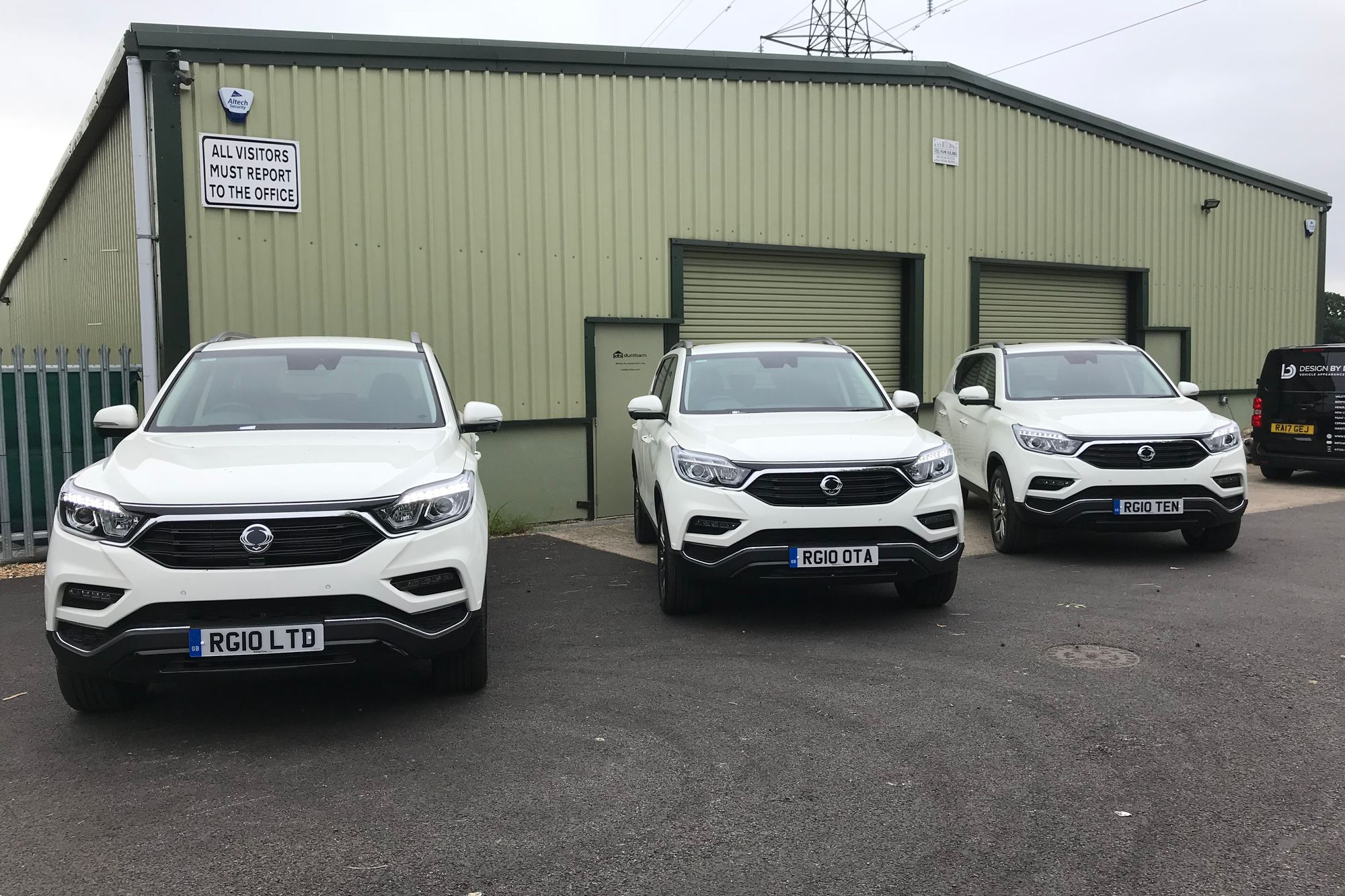Ssangyong supply us our new fleet of towing vehicles.........